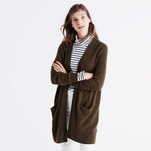 Madewell Ryder Cardigan Sweater Olive Green XL